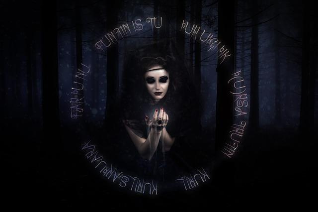 čarodějka v lese