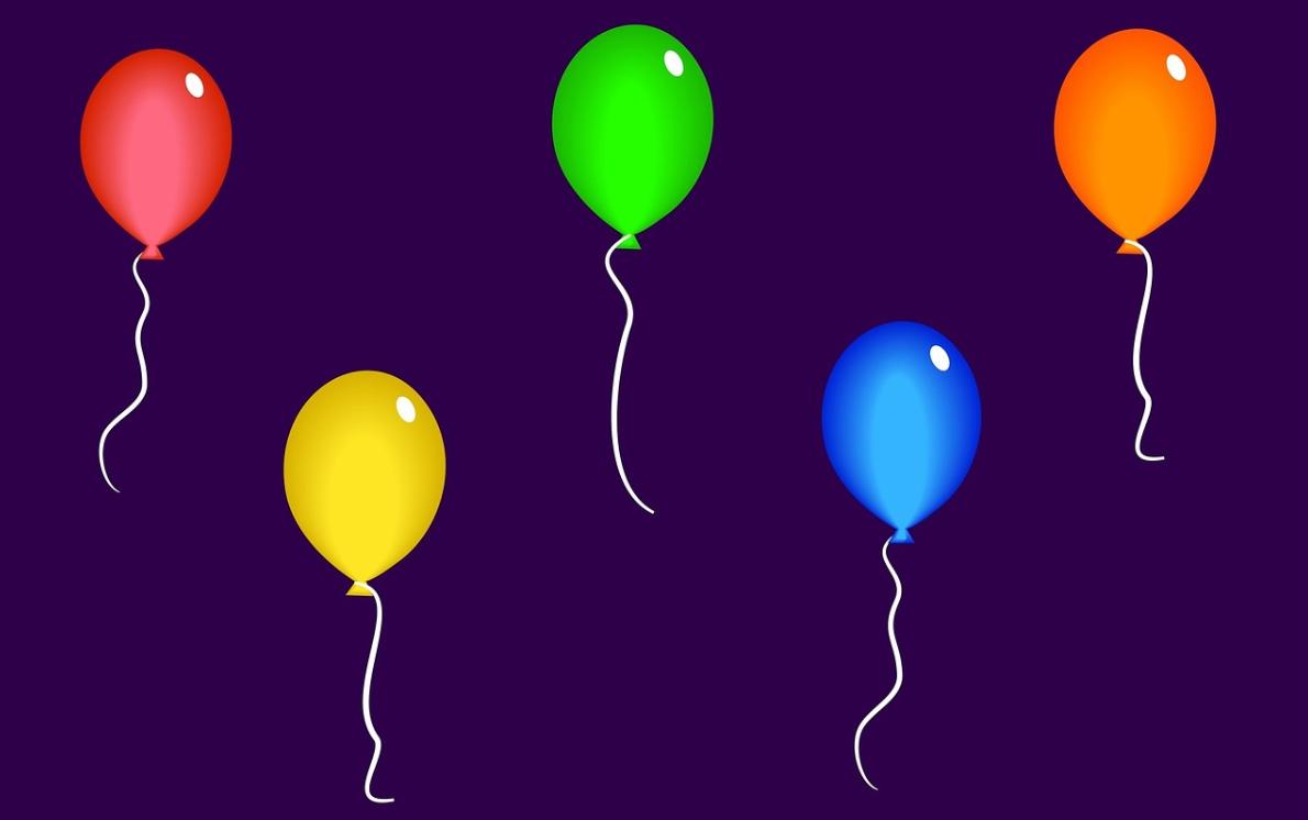 ukázky balónků